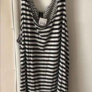 striped tank with tags 3xl